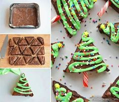 Holiday Tree Brownies Ingredients 1box (1 lb 2.4 oz) Betty Crocker™ Original Supreme Premium brownie mixWater, vegetable oil and egg called for on brownie mix box2or 3 drops green food color2/3cup …