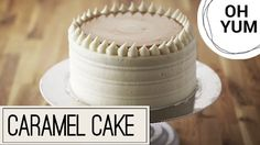 Anna bakes the perfect cake for a birthday or any special occasion with this moist and scrumptious Vanilla Birthday Cake with Caramel Pastry Cream! Best Birthday Cake Recipe, Cool Birthday Cakes, Birthday Ideas, Cupcakes, Cupcake Cakes, Carmel Icing, Mousse, Anna Olson, White Cakes