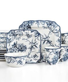 222 Fifth Dinnerware, Adelaide 16 Piece Set - Casual Dinnerware - Dining & Entertaining - Macys I am in LOVE with these dishes....