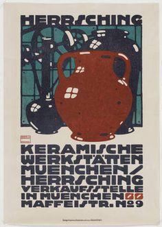 Ludwig Hohlwein. Herr Sching Keramische Werkstätten. 1910