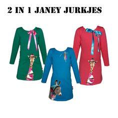 Leuk voor de #kerstdagen deze 2 in 1 jurkjes van #janey!!