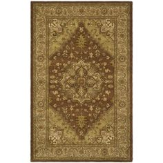 @Overstock - An intricate Oriental design and dense, thick wool pile highlight this handmade rug. This hand crafted rug uses some of the softest wool available that is not only pleasing to the eye but just as desirable to the touch.http://www.overstock.com/Home-Garden/Handmade-Heritage-Medallion-Rust-Gold-Wool-Rug-12-x-18/6691302/product.html?CID=214117 $1,044.99