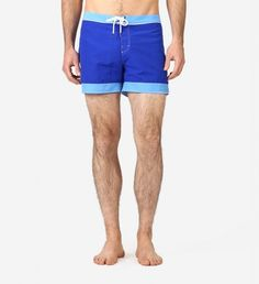 Swim Trunk w Contrast Trim  By Parke & Ronen $95| With a trim fit and crafted from lightweight nylon, these fast-drying shorts are perfect for lounging poolside or a day at the beach. |GOTSTYLE.ca
