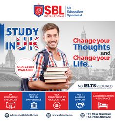 SBL International is the Best Overseas Education Consultant in Calicut. We offers you the Best Study in UK programs for International Students all over the world. We assist the students in their Study Abroad dreams along with delivering quality. Overseas Education, Ielts, Study Abroad, You Changed, University, Student, Thoughts, Life, Inspiration