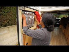 Les rideaux isolants sont des accessoires indispensables pour les nomades en van, camion aménagé ou en camping-car pour bien s'isoler du froid et du chaud.