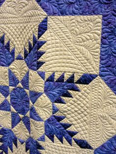 More beautiful quilting from a show quilt.