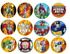 Transformer Rescue Bots Images Cupcake Cookie by Partytime365