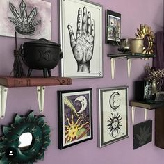 Happy Thursday! Im currently enjoying this beautiful sacred space from @thirteencuriosities That palmistry hand needs a spot on my wall!…