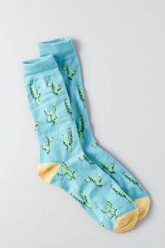 AE Cactus Crew Socks