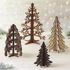 laser cut #christmas #trees Más