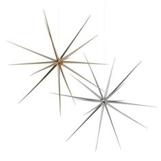"""Starbright 19.5"""" Gold Or Silver Metallic Finish Ornament For Tabletop, Tree Or Hang From Chandelier.   