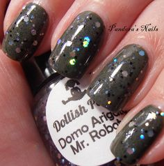 Dollish Polish Domo Arigato Mr Roboto over Nails Inc Apple Tree Yard