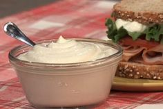 Magnificent Mayonnaise  -  Chef Rocco DiSpirito's recipe is fat free, low cal, low carb.  It's a protein power house food too because it's made with a base of Greek yogurt.