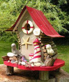 Seal Beach Lighthouse Birdhouse by papajonsflyinns on Etsy, $55.00