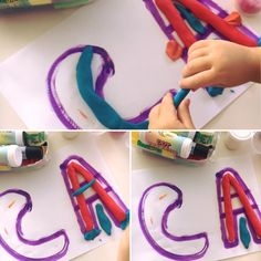 Litere din plastilină   Activitate educativă - Little Corner Of Joy Little Corner, Joy, Beauty, Play Dough, Glee, Being Happy, Beauty Illustration, Happiness