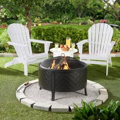 63 easy and cheap fire pit and backyard landscaping ideas 27 Backyard Patio Designs, Backyard Landscaping, Stone Landscaping, Diy Backyard Projects, Houston Landscaping, Florida Landscaping, Cheap Fire Pit, Small Fire Pit, Fire Pit Area