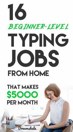 16 beginner-level typing jobs from home. 16 beginner-level typing jobs from home. Typing Jobs From Home, Online Typing Jobs, Online Jobs From Home, Online Data Entry Jobs, Ways To Earn Money, Earn Money From Home, Earn Money Online, Way To Make Money, Online Earning