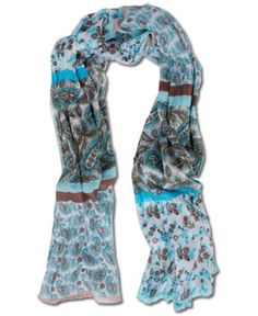 SoulFlower-NEW! Paisley Afternoon Scarf-$16.00