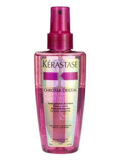 Hair styling ~ shine booster ~  . . . Kérastase Reflection Chroma Cristal is a fine mist that gets blowouts gleaming; it also keeps colored hair vibrant. ❤