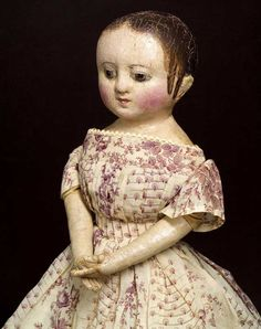 izannah walker dolls | this oil painted doll was made in rhode island by izannahwalker c 1860