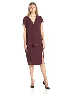 Twelfth Street by Cynthia Vincent Women's Omak Caftan  Sexy omak caftan dress Cap-sleeve caftan featuring notched hem and lace-up placket  http://www.beststreetstyle.com/twelfth-street-by-cynthia-vincent-womens-omak-caftan/