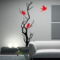 Beautiful Birds on a Branch Vinyl Wall Decal