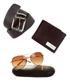91fb55b165684f Reebok-Men-Sunglass   Le Valde-Men - Brown Leather Wallet   Le Valde Men -  Black Leather Belt Combo at Off!