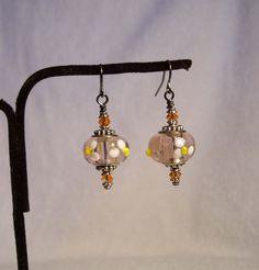 European Style Lampworked Flowered Glass Earrings by Earringology, $24.95