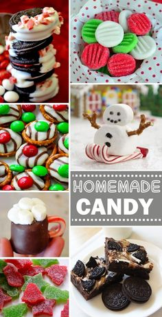 Candy Treats You Can Make For The Holidays Homemade Candy Recipes for Christmas - so many that I want to try!Homemade Candy Recipes for Christmas - so many that I want to try! Holiday Candy, Holiday Cookies, Holiday Treats, Holiday Recipes, Recipes For Christmas, Holiday Foods, Christmas Snacks, Christmas Cooking, Homemade Christmas Candy