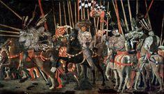 Ucello – The Counterattack of Michelotto da Cotignola at the Battle of San Romano (c. 1455), wood panel, 182 × 317 cm, Musée du Louvre, Paris