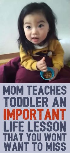 Mom Teaches Toddler An Important Life Lesson That You Won't Want To Miss!