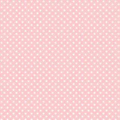 baby pink with white polka dots