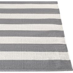 Broad Bands Of Grey And Ivory Stretch Horizontally Across This Modern And  Sophisticated Cotton Rug Hand Loomed By Artisans Skilled In Flat Weave ...