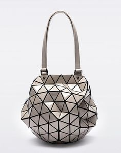 BAO BAO ISSEY MIYAKE PLANET 2Way Bag GRAY Baobao From Japan New #ISSEYMIYAKE #TotesShoppers