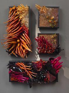 "Shayna Leib, Tsushima, Glass, 2009, 22"" h x 22"" l x 6"" w, photo: Jim Gill"