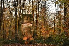 Stefan Rinck, Vent des Forêts 2010, One of those who were too long in the woods. #ventdesforets #stefanrinck #stone #monster #beast #animal #sauvage #rando #nature #intothewild #forest #hiking #countryside #liveauthentic #exploretocreate #keepitwild #wildernessculture #artofvisuals #visualsofnature #folkscenery #welivetoexplore #neverstopexploring #contemporaryart #meuse #grandest #meusetourisme #grandest_focus_on #destinationlorraine @tnemelc__ #autumn