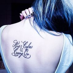 """Keep calm and carry on"" 