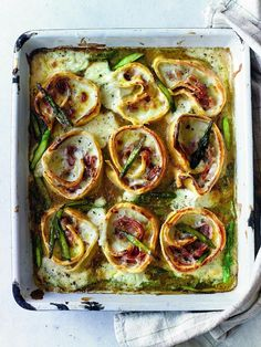Ham and Asparagus Pasta Nests (Rotolo) - The Happy Foodie