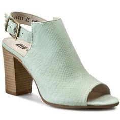 Sandály NESSI - 66005 Pistacja An Heeled Mules, Heels, Fashion, Heel, Moda, Fashion Styles, High Heel, Fashion Illustrations, Stiletto Heels