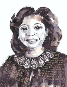 Portfolio — Artist Lydia Makepeace Female Portrait, Female Art, Art Quotes, Epic Quotes, Quote Art, Ink Illustrations, Civil Rights, Watercolor And Ink