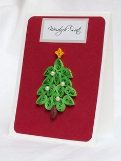 handmade christmas cards, kartki na boże narodzenie ręcznie robione, quilling