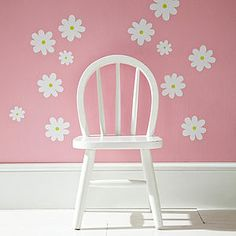 Flower Wall Stickers White - wall stickers