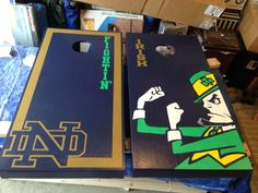 We build anything from bars to corn hole boards from coffee tables to dog bowl holders. Diy Craft Projects, Diy And Crafts, Wood Projects, Noter Dame, Cornhole Designs, Go Irish, Notre Dame Football, Corn Hole Game, Fighting Irish