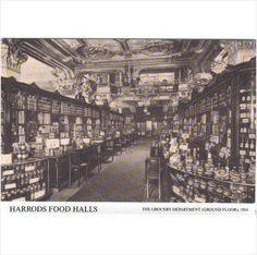 Harrods Food Hall - Grocery Dept. 1904 ~ repro. #postcard on #eBid United Kingdom