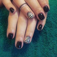 Black cute nails
