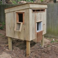 See my chicken coop custom made from recycled pallets!