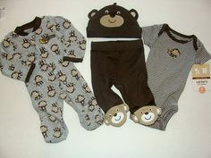 Adorable PREEMIE 4pc set from Carters BRAND NEW!
