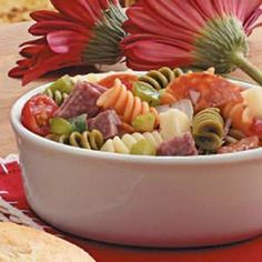 Antipasto Salad Recipe is perfect for family BBQ's! #salad
