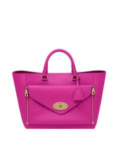 MULBERRY Willow Tote Pink Silky Classic Calf With Soft Gold