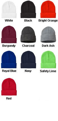 9b424c4dd01 Bayside® Cuffed Knit Beanie Cap - All Colors Knit Beanie